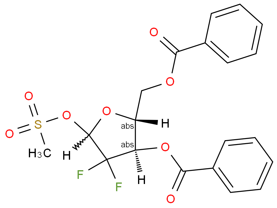 2-Deoxy-2,2-difluoro-D-erythro-pentofuranose-3,5-dibenzoate-1-methanesulfonate