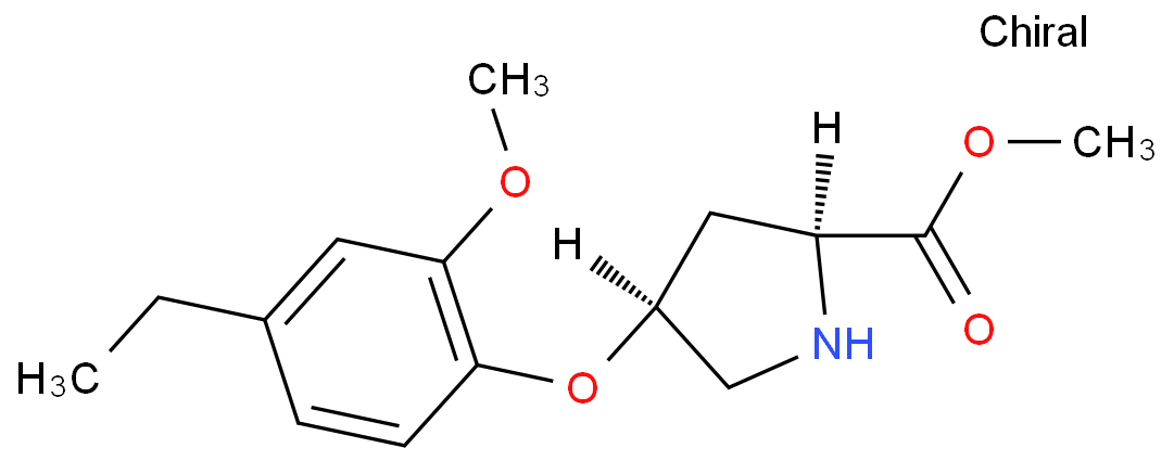 Methyl (2S,4S)-4-(4-ethyl-2-methoxyphenoxy)-2-pyrrolidinecarboxylate