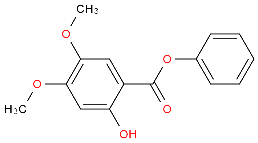 PHENYL 2-HYDROXY-4,5-DIMETHOXYBENZOATE
