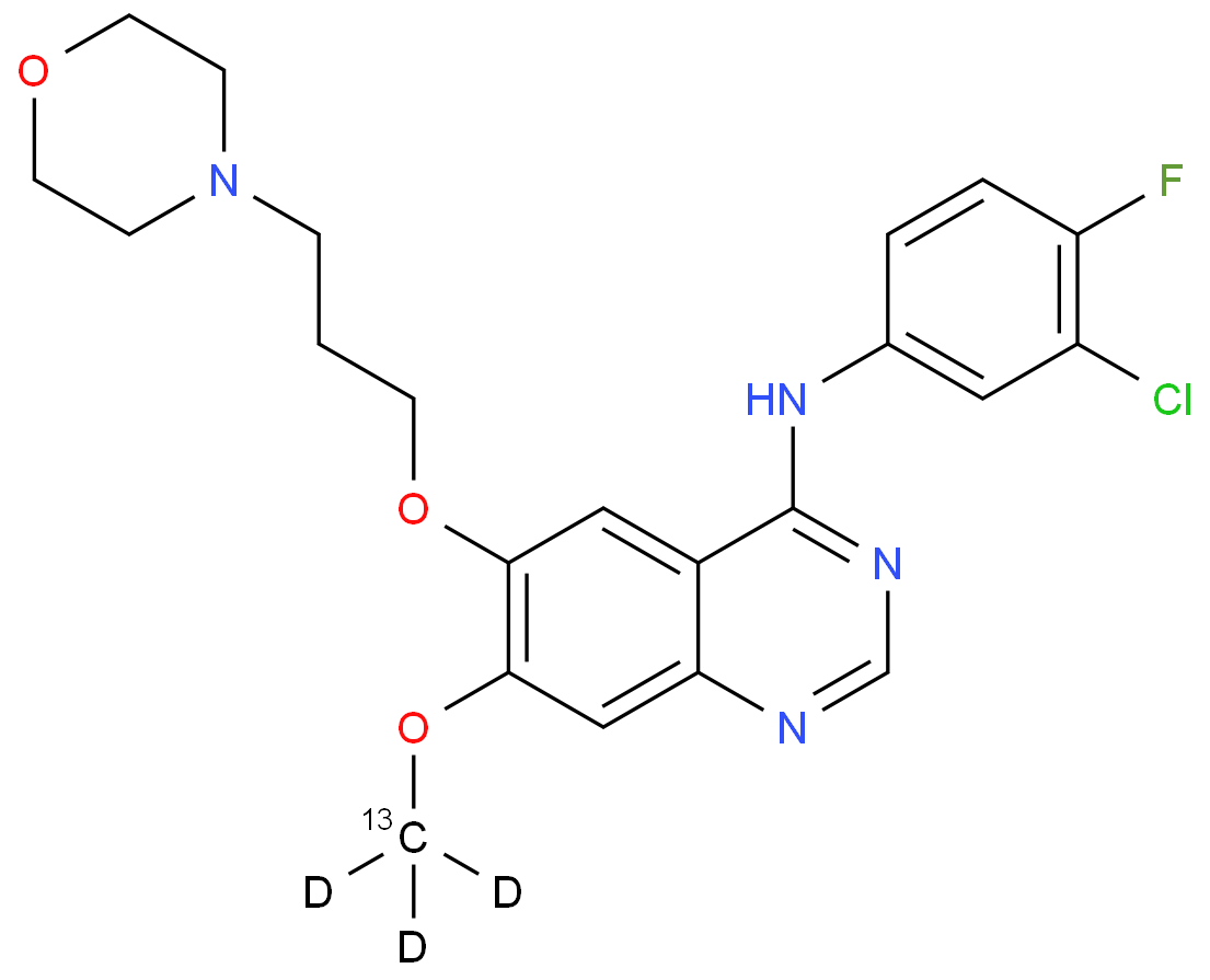 n-(3-chloro-4-fluorophenyl)-7-[(~13~c,~2~h_3_)methyloxy]-6-[3-(morpholin-4-yl)propoxy]quinazolin-4-amine